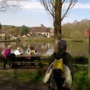 08-04-18 St Hilarion 15 - Petite pause à l'étang de St Hilarion 1